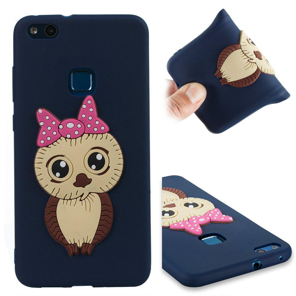 Case for Huawei P10 Lite Owl Soft Shell - MIDNIGHT BLUE