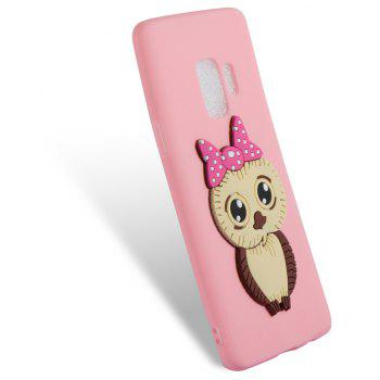 Case for Samsung Galaxy S9 Owl Soft Shell - LIGHT PINK