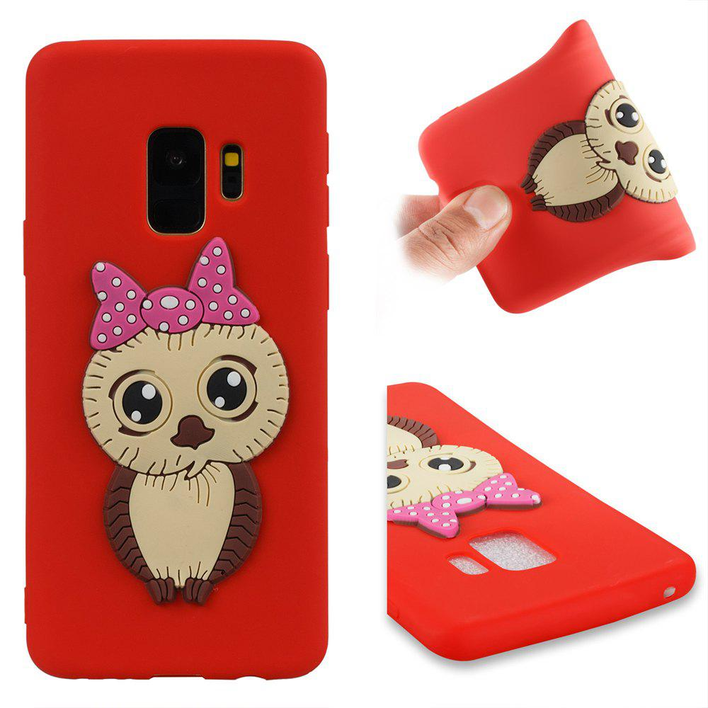 Case for Samsung Galaxy S9 Owl Soft Shell - RED