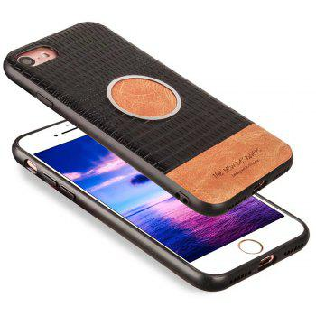 For iPhone 7 / 8 Case Magnetic Function Special Texture Soft Back Cover - BLACK