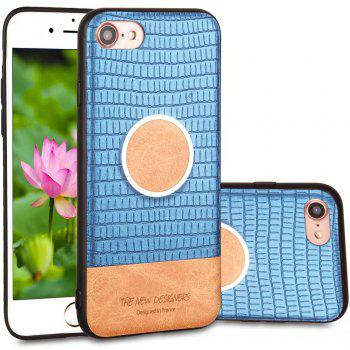 For iPhone 7 / 8 Case Magnetic Function Special Texture Soft Back Cover - BLUE