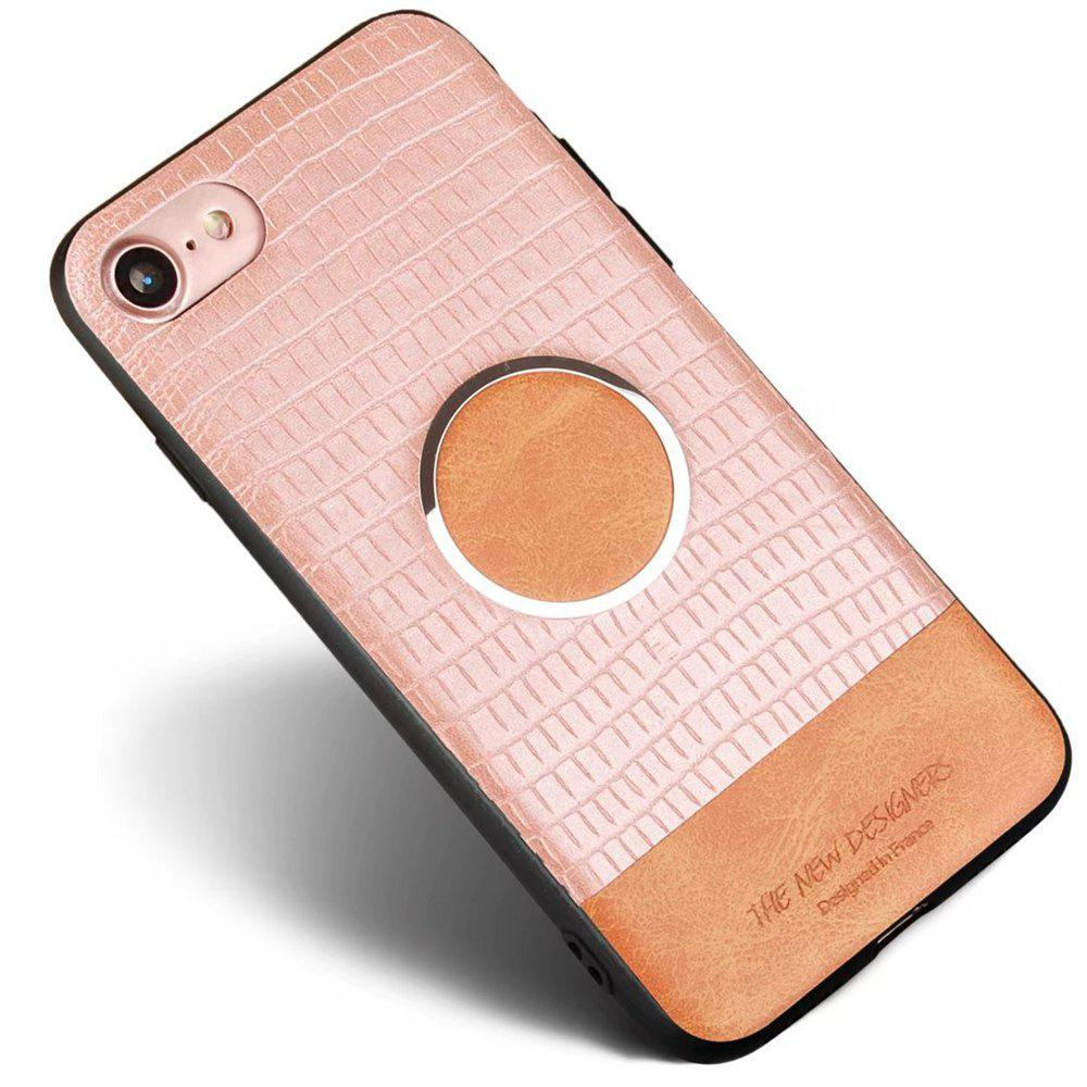 For iPhone 7 / 8 Case Magnetic Function Special Texture Soft Back Cover - ROSE