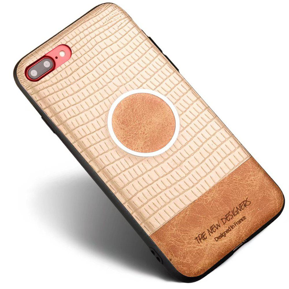For iPhone 7 Plus / 8 Plus Case Magnetic Functional Soft Back Cover - GOLDEN BROWN