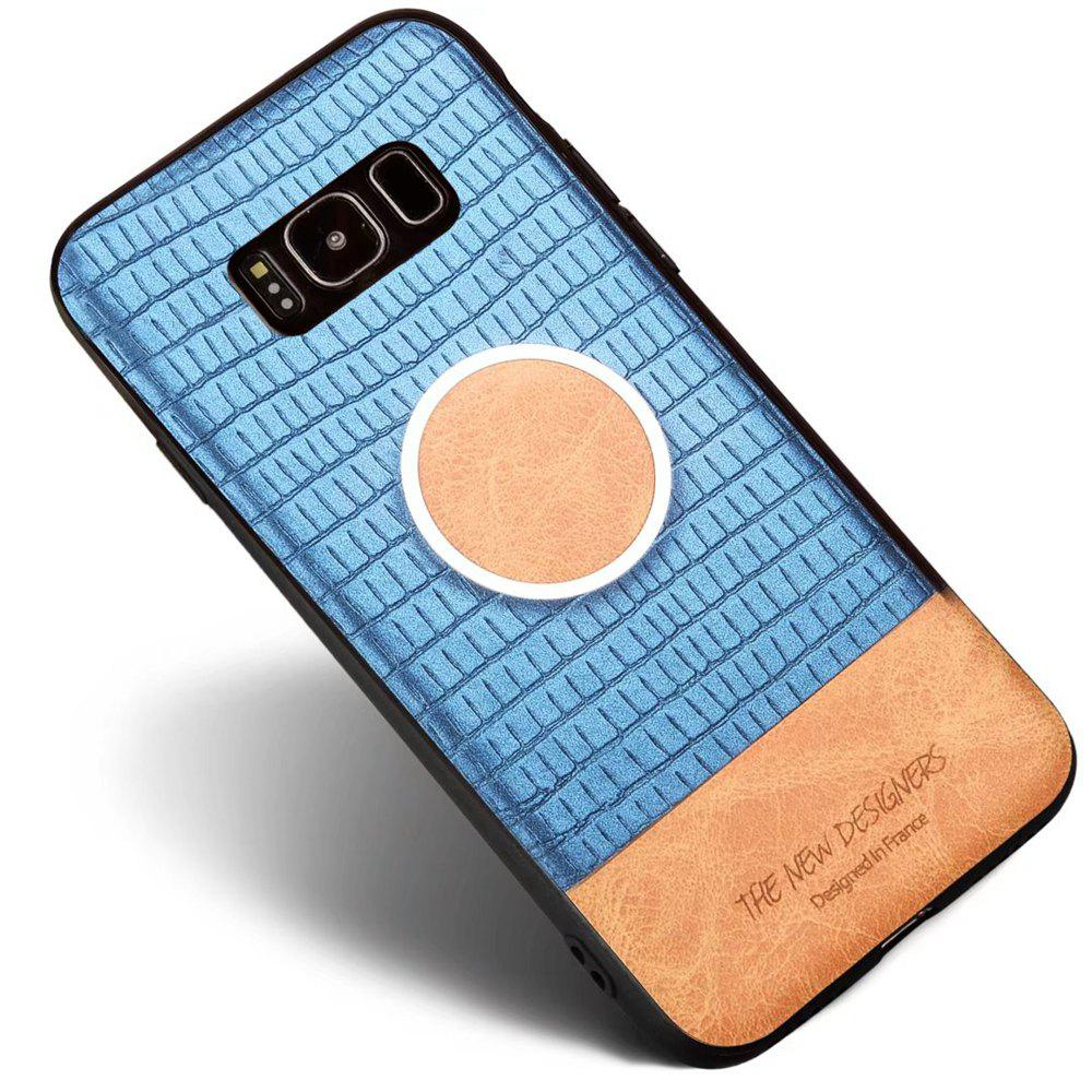 For Samsung Galaxy S8 Plus Case Magnetic Function Special Texture Soft Back Cover - BLUE