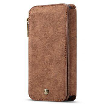 CaseMe Genuine Leather Multifuntcional Wallet Pouch Case for Samsung Galaxy S9 - BROWN BEAR