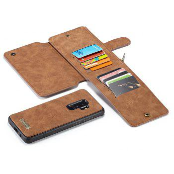CaseMe Premium Leather Multifunction Wallet Pouch Case Cover for Samsung Galaxy S9 Plus - DARK GOLDENROD