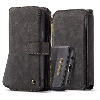 CaseMe Premium Leather Multifunction Wallet Pouch Case Cover for Samsung Galaxy S9 Plus - BLACK