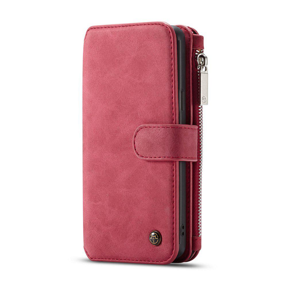 CaseMe Premium Leather Multifunction Wallet Pouch Case Cover for Samsung Galaxy S9 Plus - RED