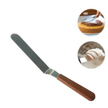 8 Inch Butter Cake Cream Spatula Smoother Icing Frosting Spreader Fondant Pastry Cakes Decoration - SILVER