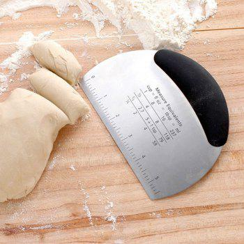 Non Slip Grip Multifunction Stainless Steel Pastry Scraper and Chopper - BLACK