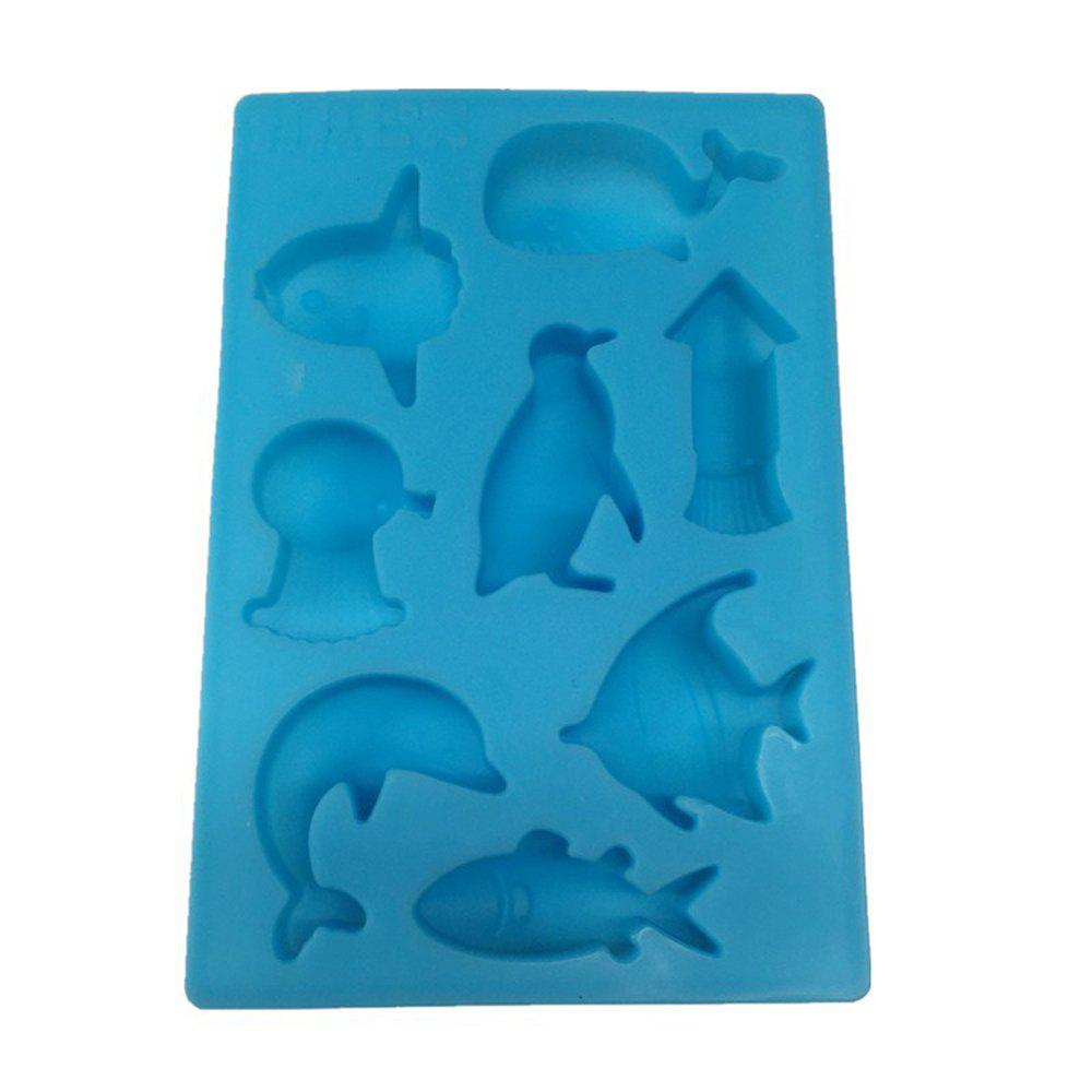 8 Marine Ocean World Dolphin Silicone Chocolate Cookies Cake Mold Ice Cube Handmade Soap Jelly Die DIY Baking Tool cake mold for diy mousse ice cream chocolate dessert jelly pastry silicone cake mold decoration tools heart shaped