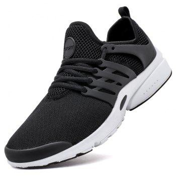 ZEACAVA Men Mesh Trendy Breathable Wild Men's Sports Shoes - BLACK 43