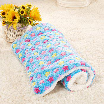Breathable Pet Bed Cat Dog Cushion Coral Cashmere Soft Warm Sleep Mat - MIST BLUE SIZE S