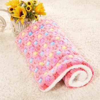 Breathable Pet Bed Cat Dog Cushion Coral Cashmere Soft Warm Sleep Mat - PINK SIZE L