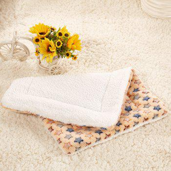Breathable Pet Bed Cat Dog Cushion Coral Cashmere Soft Warm Sleep Mat - CAMEL BROWN SIZE M