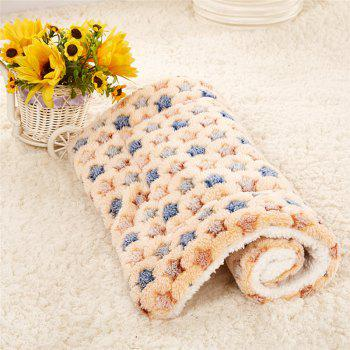 Breathable Pet Bed Cat Dog Cushion Coral Cashmere Soft Warm Sleep Mat - CAMEL BROWN SIZE S