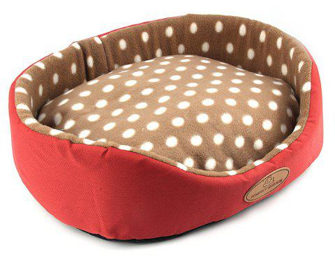 Dog Cat Bed Double Sided Available All Seasons House Sofa Kennel Soft Fleece Pet Warm Mat - CHERRY RED SIZE M