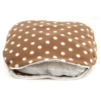Dog Cat Bed Double Sided Available All Seasons House Sofa Kennel Soft Fleece Pet Warm Mat - MOCHA SIZE L