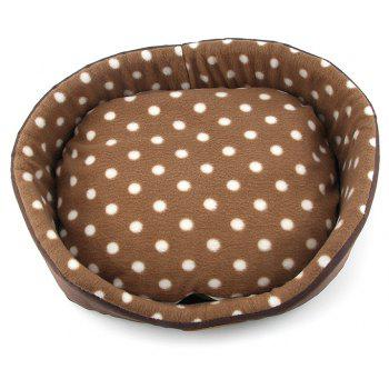 Dog Cat Bed Double Sided Available All Seasons House Sofa Kennel Soft Fleece Pet Warm Mat - MOCHA SIZE S