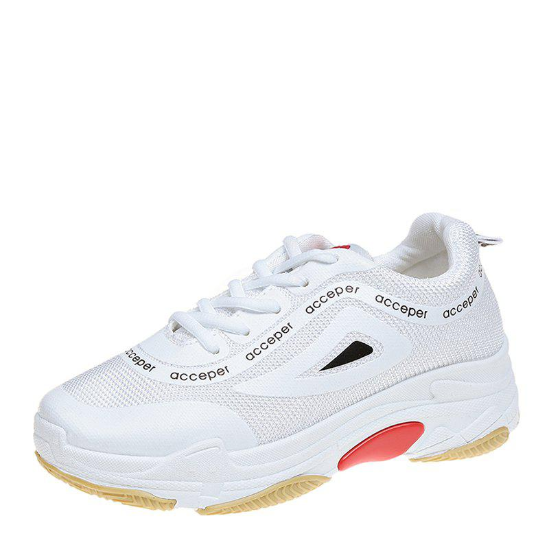 New Joker Comfortable Breathable Sneaker - WHITE 37