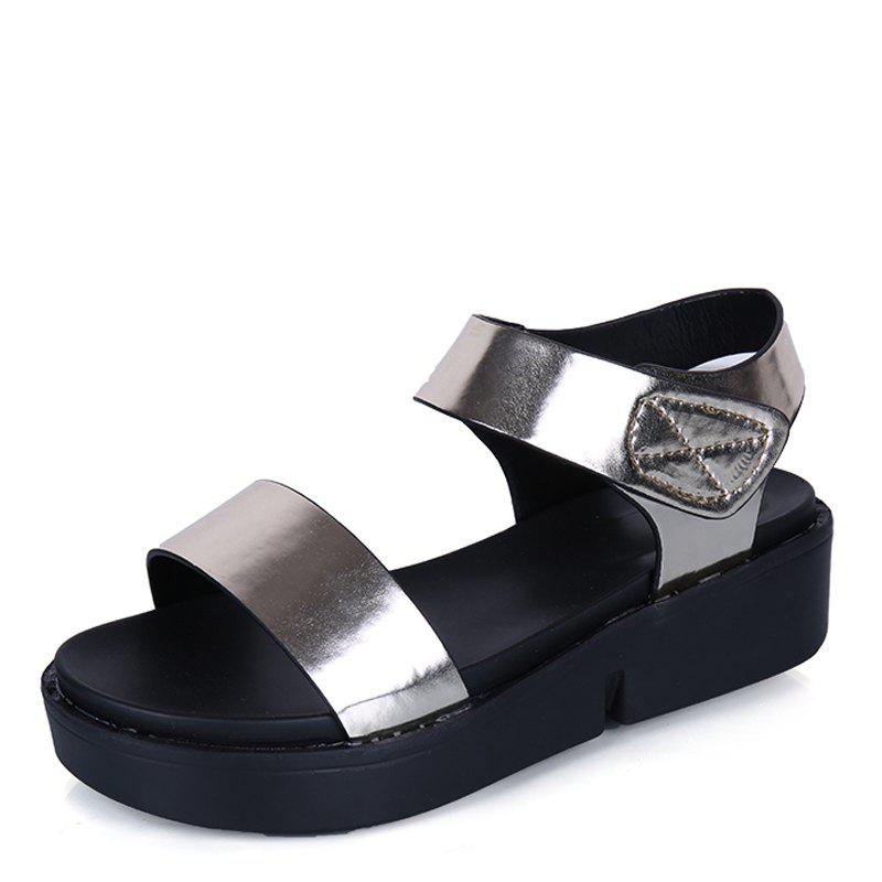 Summer Comfortable Flat Thick Bottom Velcro Joker Sandals