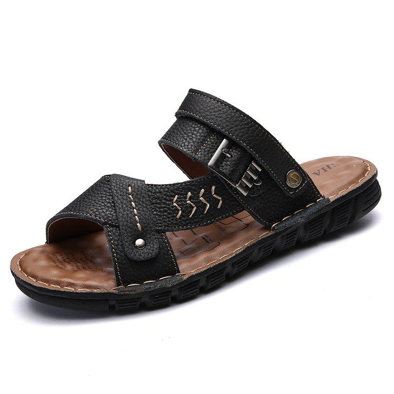 Men Sandals Shoes Leisure Casual Soft Sport Summer Beach Slippers 2018 summer casual women sandals flat with shoes bandage bohemia leisure lady sandals peep toe women s summer footwear shoes