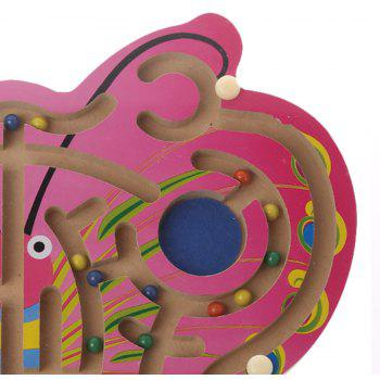 Children Toy Wooden Butterfly Magnetic Pen Parent-Child Game - BURNT PINK