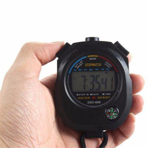 Digital Stopwatch Chronograph Sport Counter Timer Odometer Watch - multicolor A