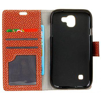 Cover Case For LG K3 2017 Braided Pattern PU Leather Wallet - BROWN