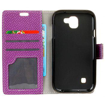 Cover Case For LG K3 2017 Braided Pattern PU Leather Wallet - VIOLET