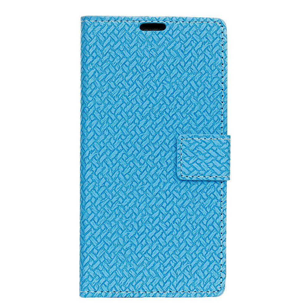 Cover Case For LG K3 2017 Braided Pattern PU Leather Wallet - SKY BLUE