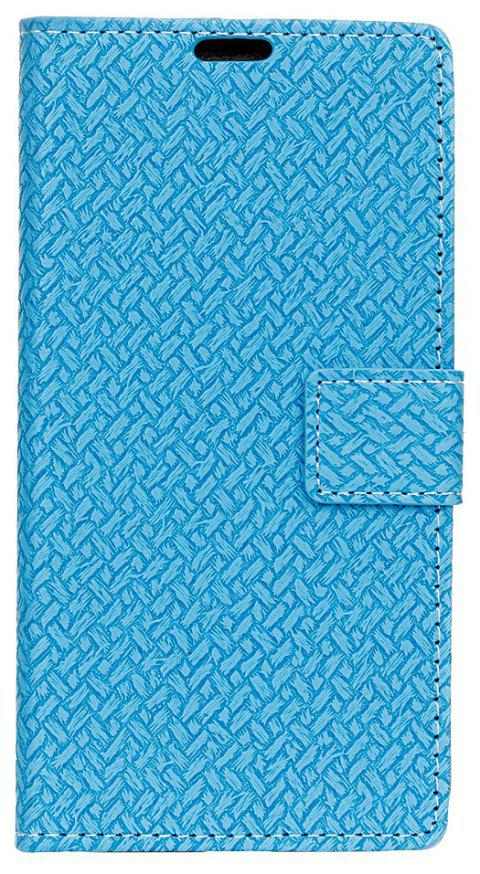 Cover Case For LG K4 2017 Braided Pattern PU Leather Wallet - SKY BLUE