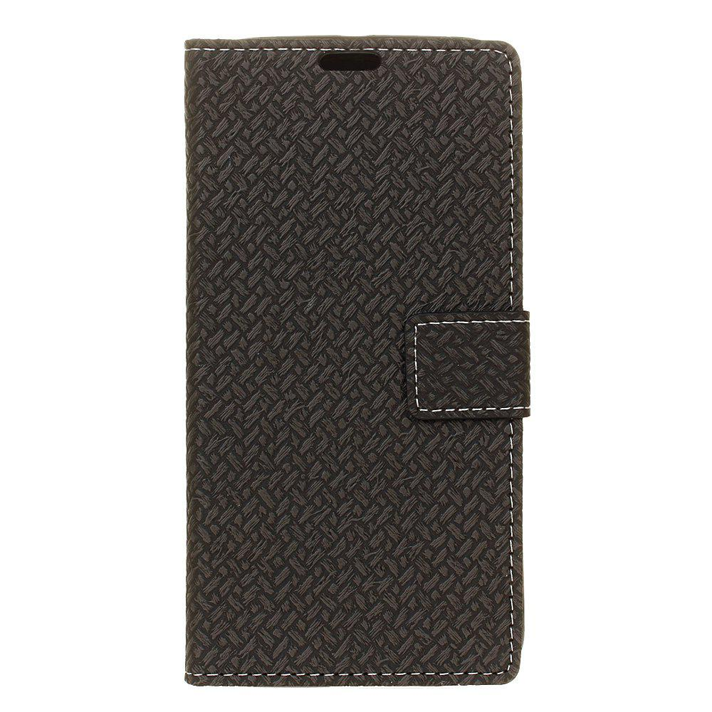Cover Case For LG K4 2017 Braided Pattern PU Leather Wallet - BLACK