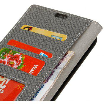 Cover Case For LG Sytlus 2 Braided Pattern PU Leather Wallet - GRAY