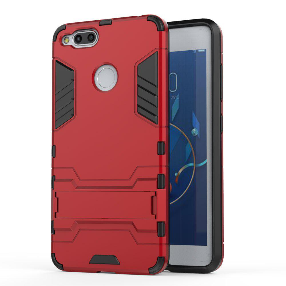 Armor Case for ZTE Nubia Z17 Mini Silicon Back Shockproof Protection Cover - RED