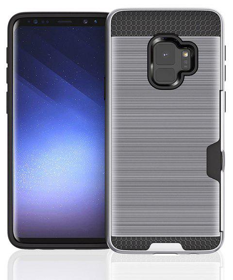 Armor Case for Samsung Galaxy S9 Card Shockproof Bumper Cover - SILVER