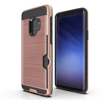 Armor Case for Samsung Galaxy S9 Card Shockproof Bumper Cover - ROSE GOLD