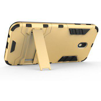 Armor Case for Samsung Galaxy J7 2017 / J730 EU Version Silicon Back Shockproof Protection Cover - GOLD