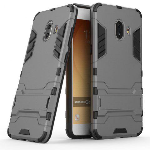 Armor Case for Samsung Galaxy C10 Silicon Back Shockproof Protection Cover - GRAY