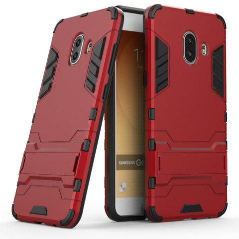 Armor Case for Samsung Galaxy C10 Silicon Back Shockproof Protection Cover - RED