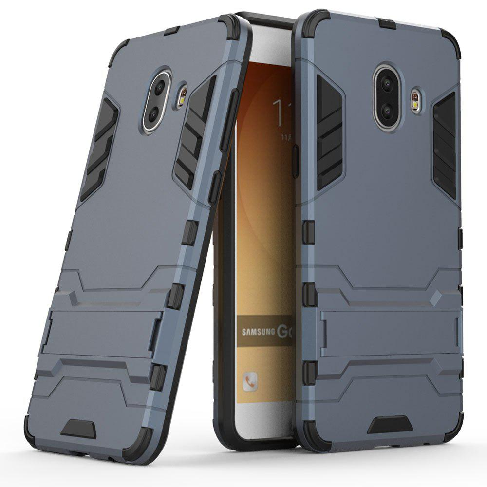 Armor Case for Samsung Galaxy C10 Silicon Back Shockproof Protection Cover - MIST BLUE
