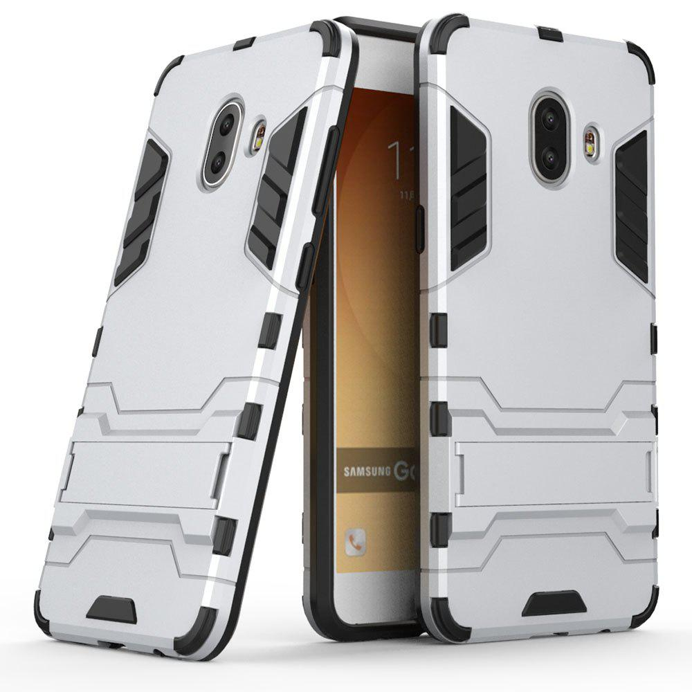 Armor Case for Samsung Galaxy C10 Silicon Back Shockproof Protection Cover - SILVER