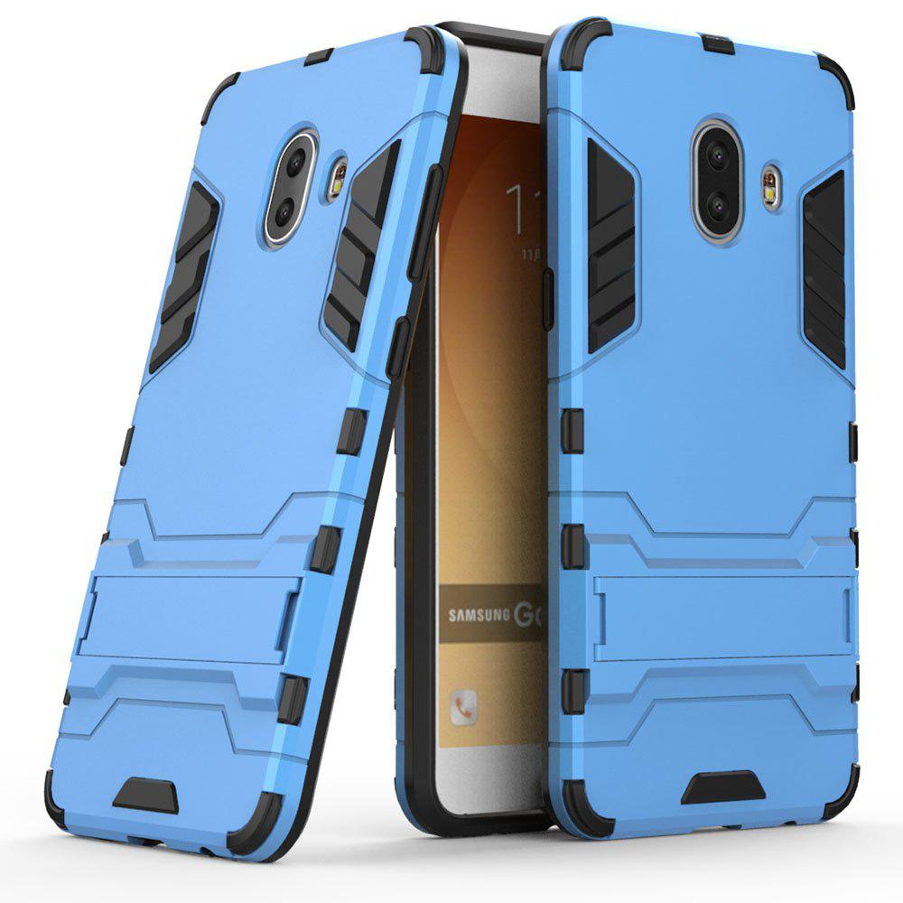 Armor Case for Samsung Galaxy C10 Silicon Back Shockproof Protection Cover - BLUE