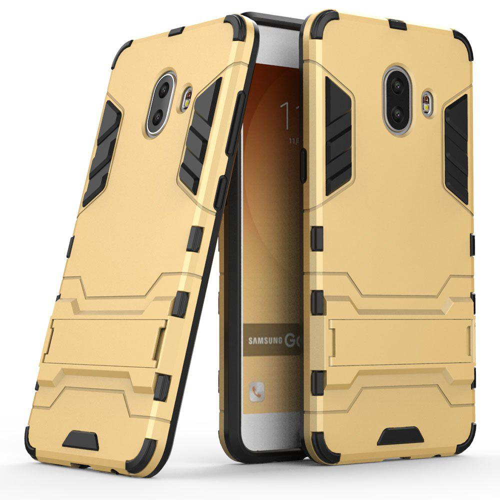 Armor Case for Samsung Galaxy C10 Silicon Back Shockproof Protection Cover - GOLD
