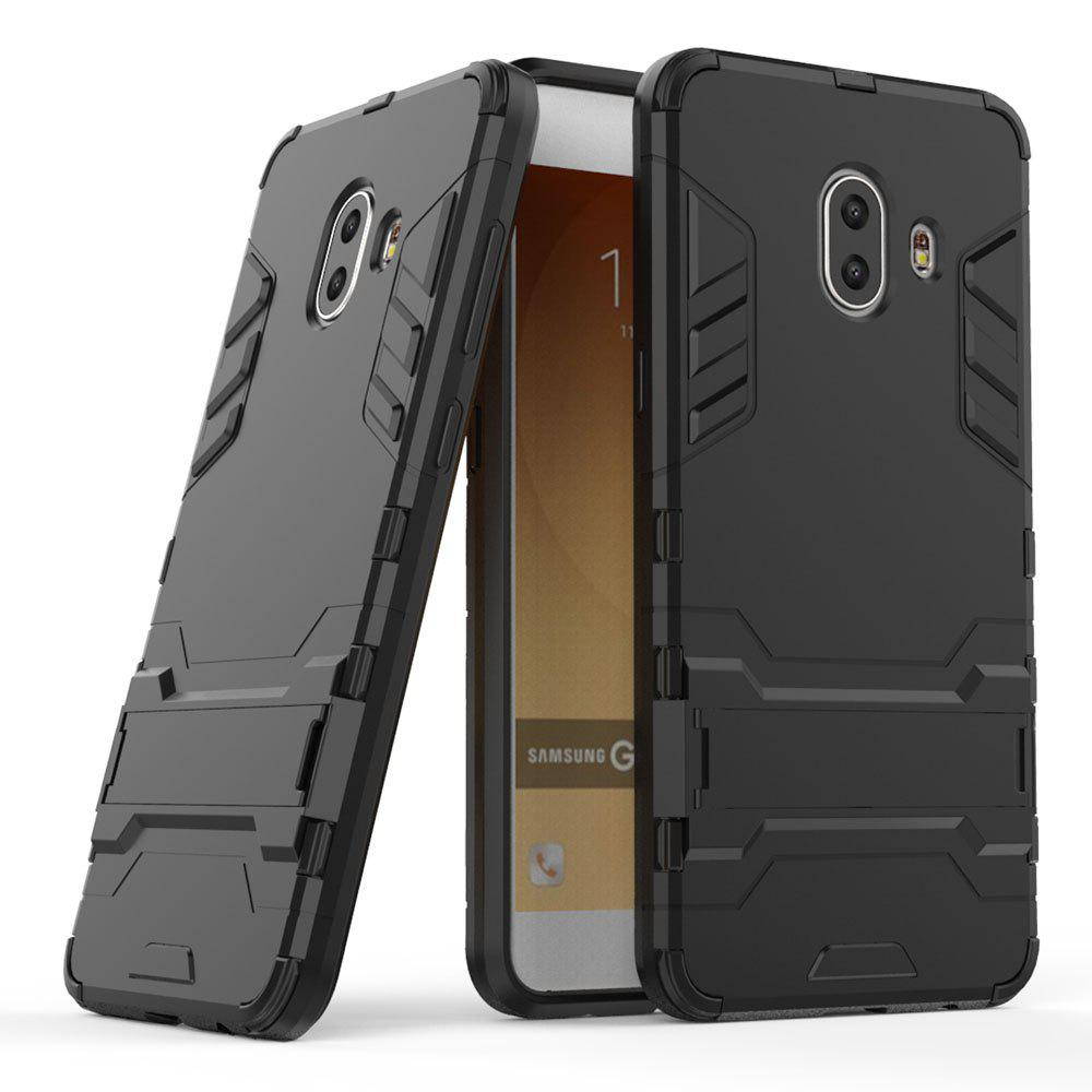 Armor Case for Samsung Galaxy C10 Silicon Back Shockproof Protection Cover - BLACK