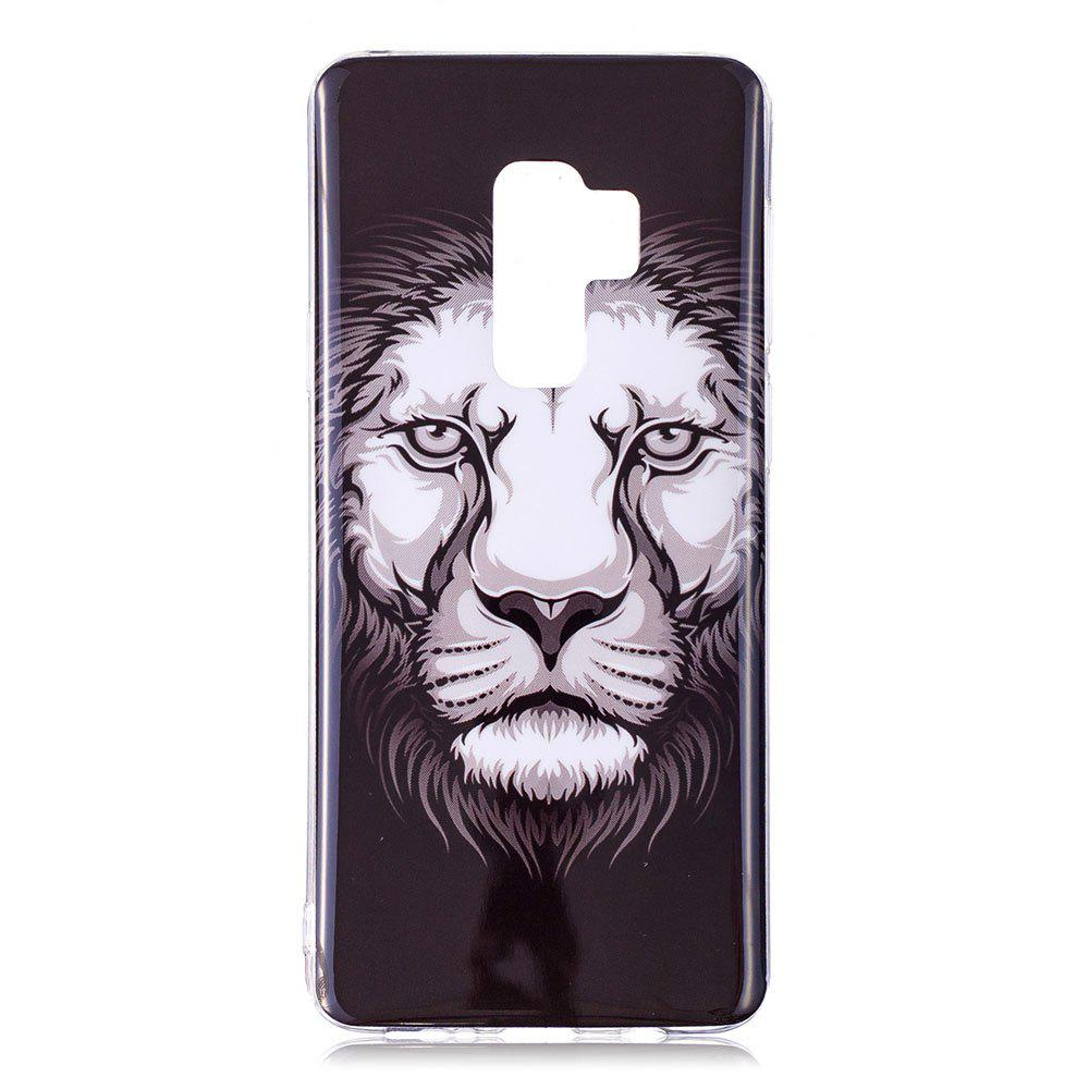 Case for Samsung Galaxy S9 Plus Lion Pattern Soft TPU Cover - BLACK