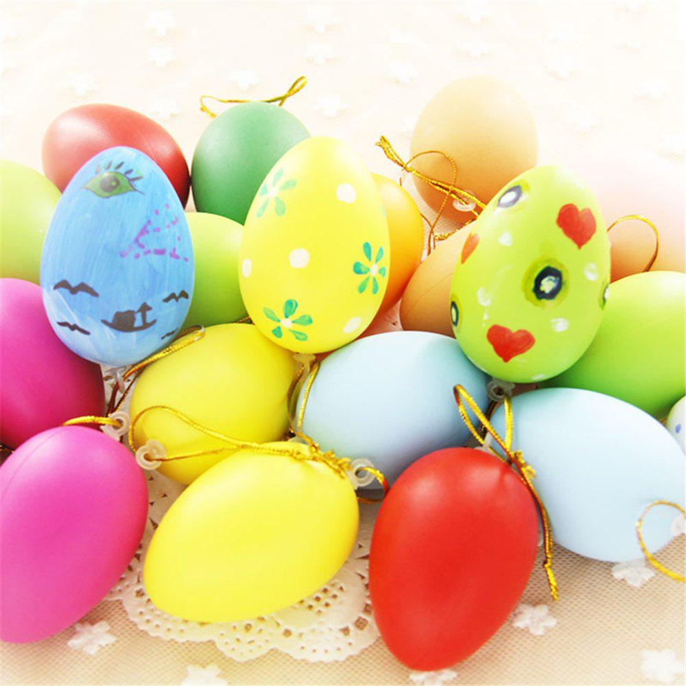 10pcs Plastic Easter Egg Pack of Empty Hunt  Assorted Colours - multicolor L