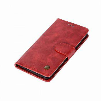 Leather Flip Wallet Case for Lenovo A6000 Holer Phone Shell with Lanyard - LOVE RED