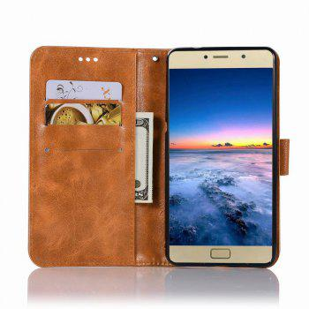 Leather Flip Wallet Case for Lenovo P2 Holer Phone Shell with Lanyard - GOLDEN BROWN