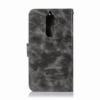 Leather Flip Wallet Case for Lenovo K8 Note Holer Phone Shell with Lanyard - GRAY